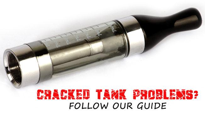e-liquids and cracked tanks